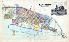 Winona County - Winona, Illustration - State Normal School, Minnesota State Atlas 1874