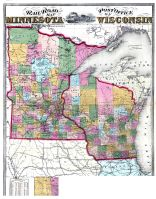 Minnesota And Wisconsin Railroad And Post Office Map - Map of minnesota and wisconsin