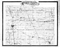 Mower County Outline Map, Mower County 1896