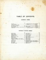 Table of Contents, Murray County 1908