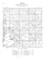 Shetek Township, Fox Lake, Bloody Lake, Lake Fremont, Round Lake, Murray County 1961