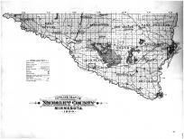 Nicollet County Outline Map, Nicollet County 1899