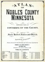Title Page and Table of Contents, Nobles County 1926 Anderson