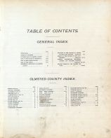 Table of Contents, Olmsted County 1896