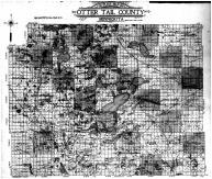 Otter Tail County Outline Map, Otter Tail County 1912