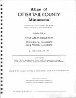 Title Page, Otter Tail County 1982