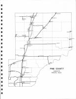 County Map, Pine County 1972