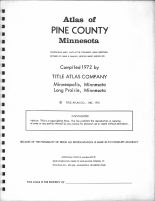 Title Page, Pine County 1972