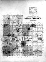Rice County Outline Map, Rice County 1900