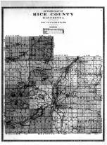 Rice County Outline Map, Rice County 1915