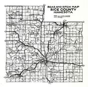 Rice County Road and Ditch Map, Rice County 194x