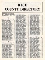 Directory 002, Rice County 1964 - 1965