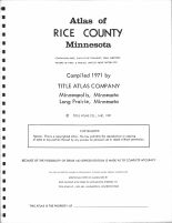 Title Page, Rice County 1971