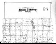 Rock County Outline Map - Above, Rock County 1886