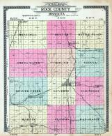 Rock County Outline Map, Rock County 1914