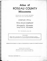 Title Page, Roseau County 1976