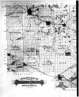 Stearns County Outline Map - Left, Stearns County 1896