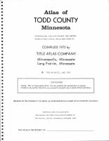Title Page, Todd County 1975