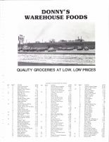 Long Prairie Township Small Tract Owners, Ad - Donny's Warehouse Foods, Todd County 1983