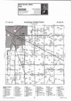Wadena Township, Whiskey River, Crow Wing River, Directory Map, Wadena County 2007