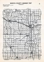 Waseca County Highway Map, Waseca County 1947