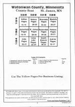 Table of Contents, Watonwan County 1992
