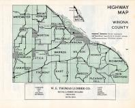 Winona County Highway Map, Winona County 1950c