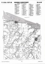 Homer Township, Pickwick, Mississippi River, Directory Map, Winona County 2007
