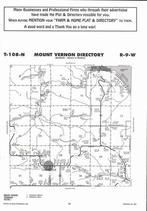 Mount Vernon Township, Minnieska, Oakridge, Speltz Creek, Directory Map, Winona County 2007