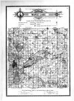 Maple Lake Township, Maple Lake, Ramsey Lake, Wright County 1915