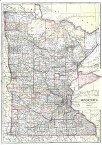 Minnesota State Map, Yellow Medicine County 1913