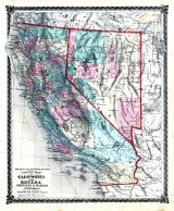 County Map of California and Nevada, Adair County 1876