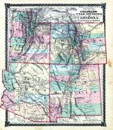 County Map of Colorado, Utah, New Mexico and Arizona, Adair County 1876