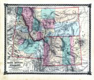 County Map of Idaho, Montana and Wyoming, Adair County 1876