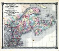 County Map of New England and the Provinces of Quebec, New Brunswick, Nova Scotia and Prince Edward Island, Adair County 1876