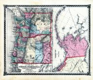 County Map of Oregon and Washington, Territory of Alaska, Adair County 1876