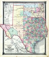 County Map of Texas and Indian Territory, Adair County 1876