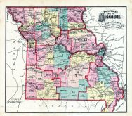 Missouri Political Map, Adair County 1876