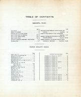 Table of Contents, Adair County 1919