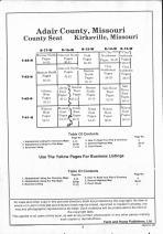Table of Contents, Adair County 1992