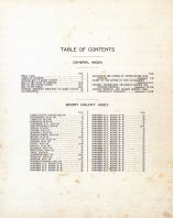 Table of Contents, Barry County 1909