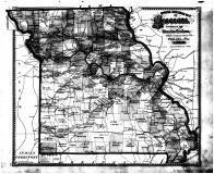 Missouri Railroad Map, Boone County 1875