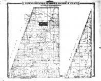 Townships 50 & 51 North Range 14 West, Harrisburg, Boone County 1875