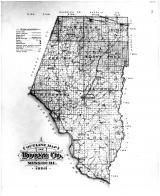 Boone County Outline Map, Boone County 1898
