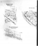 Township 45 North Ranges 11,12 & 13 West, Hart City, Claysville - left, Boone County 1898