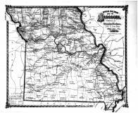 Missouri Railroad Map, Caldwell County 1876 Microfilm