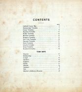 Table of Contents, Caldwell County 1907 McGlumphy
