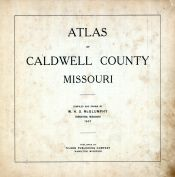 Title Page, Caldwell County 1907 McGlumphy