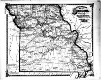Missouri Railroad Map, Callaway County 1876