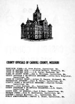 County Officials, Carroll County 1959